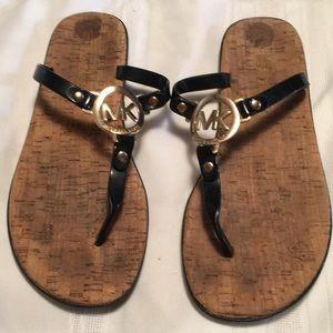 Michael Kors black cork sandals size approx 8